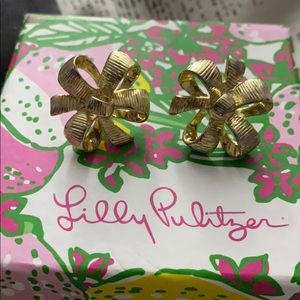 Lily Pulitzer Bow Tie Earrings